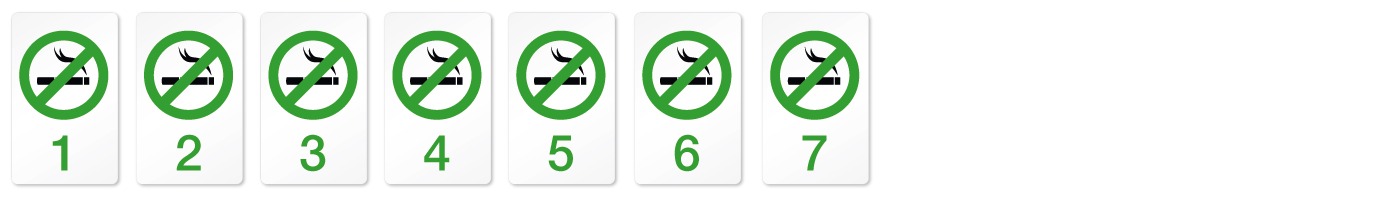 Rauchfrei Woche Sieben