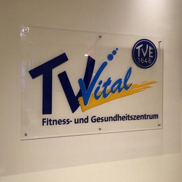 Schild TV Vital (Fitnessstudio)