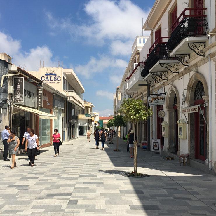 Fußgängerzone Paphos
