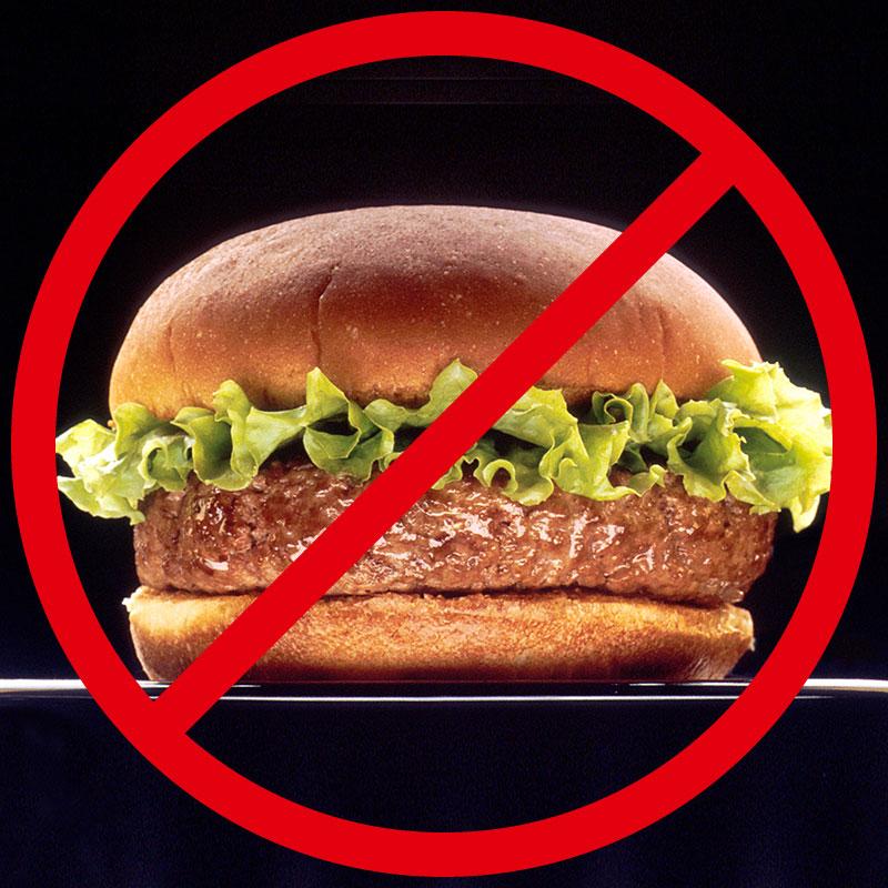 durchgestrichener Hamburger