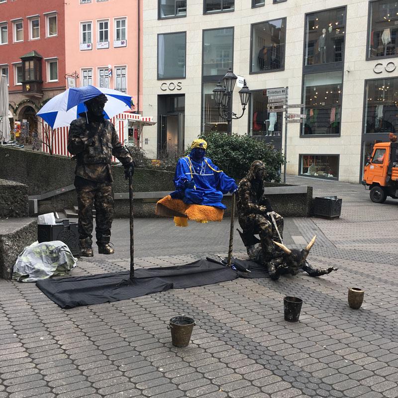 Schausteller Fußgängerzone