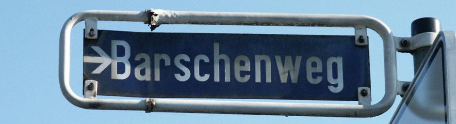Straßenschild Barschenweg