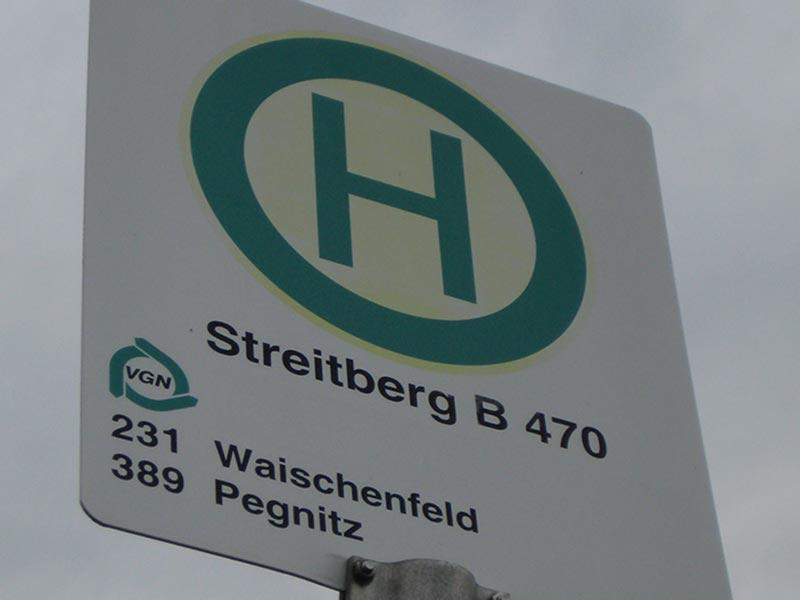 Halteschild Streitberg