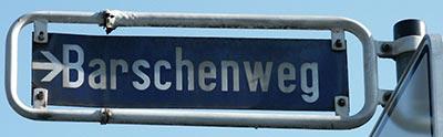 Barschenweg Straßenschild